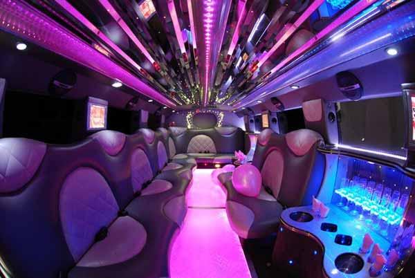 Cadillac Escalade Limo Interior Las Vegas
